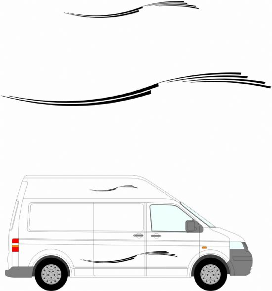 (No.230) MOTORHOME GRAPHICS STICKERS DECALS CAMPER VAN CARAVAN UNIVERSAL FITTING